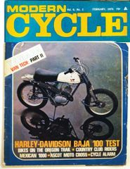 """The Yamaha-VanTech Project Part II"" - Modern Cycle (February 1970)"