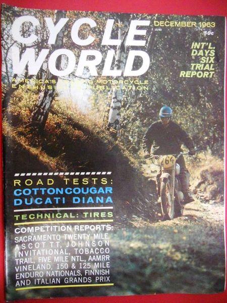 """""""New VanTech Scrambler"""" Cycle World (December 1963)"""