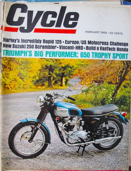 """Honda S-90 VanTech"" Cycle (February 1968) by Doug Richmond"