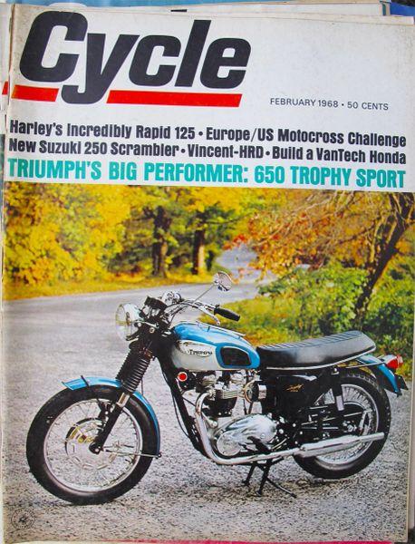 """Honda S-90 VanTech"" Cycle (February 1968) by Doug Richmond"