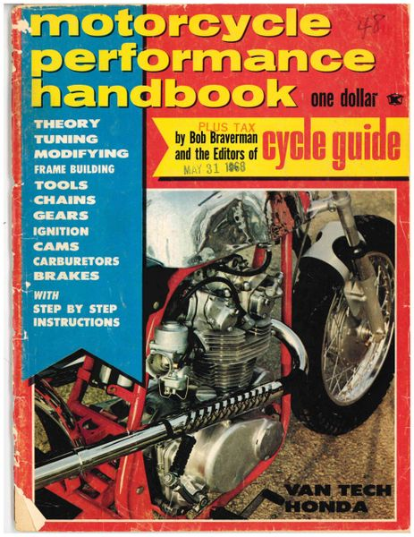 """VanTech Honda 160"" by Bob Braverman Motorcycle Performance Guide, May 1968"