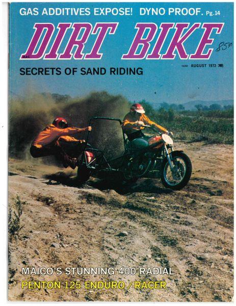 """""""VanTech Springer On A CZ?"""" Dirt Bike Magazine, August 1972"""