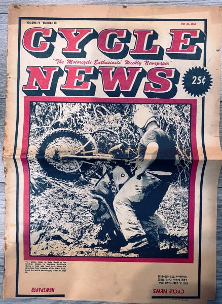 """Grant To Manufacture VanTech Motorcycle Kit"" by Rudi Hartmut, Cycle News - May 1967"