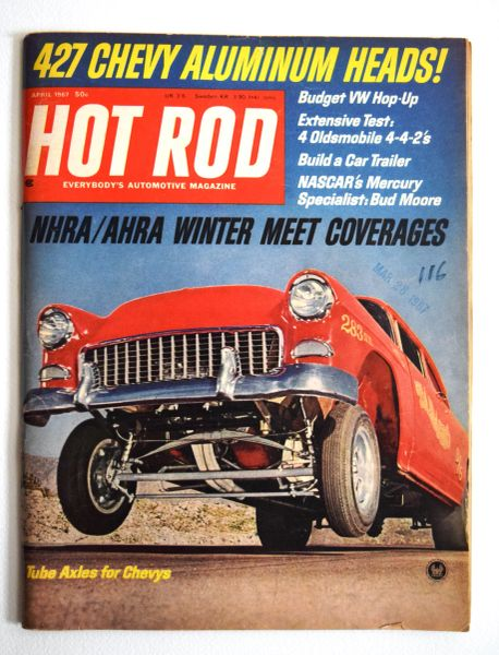 """Up on Two Wheels"" by Bob Greene - the Grant/VanTech Chassis - featured in Hot Rod (April 1967)"