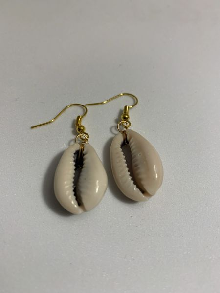 Gold Cowrie Shell Earrings