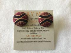 Antique Fabic Button Earrings