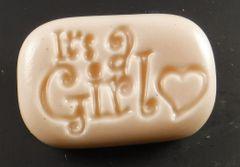 Its a Girl Oval Goatsmilk Soap