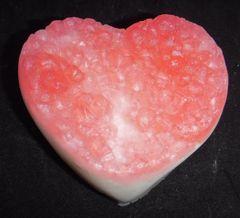 Heart geode soap