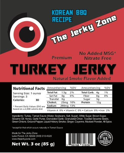 The Jerky Zone Korean Barbecue Recipe Turkey Jerky
