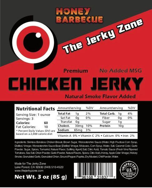 The Jerky Zone Honey Barbecue Chicken Jerky