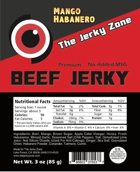 The Jerky Zone Mango Habanero Beef Jerky