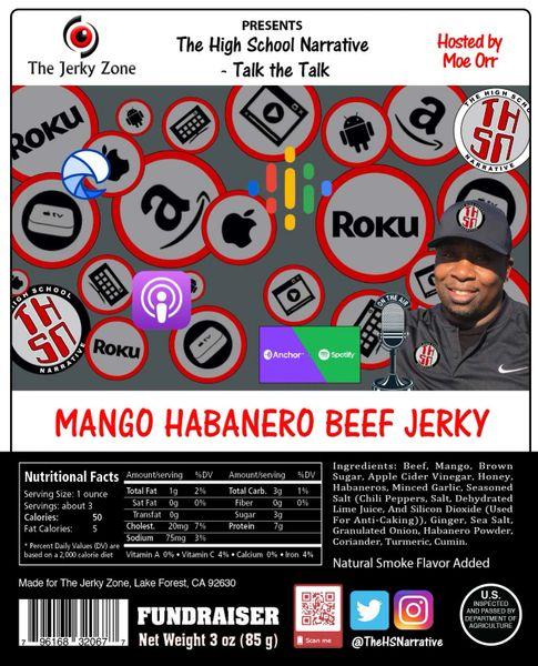 The Jerky Zone THSN Mango Habanero Beef Jerky