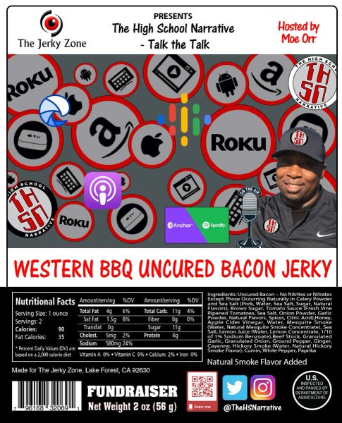 The Jerky Zone THSN Western Barbecue Bacon Jerky