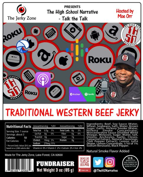 The Jerky Zone THSN Traditional Western Beef Jerky