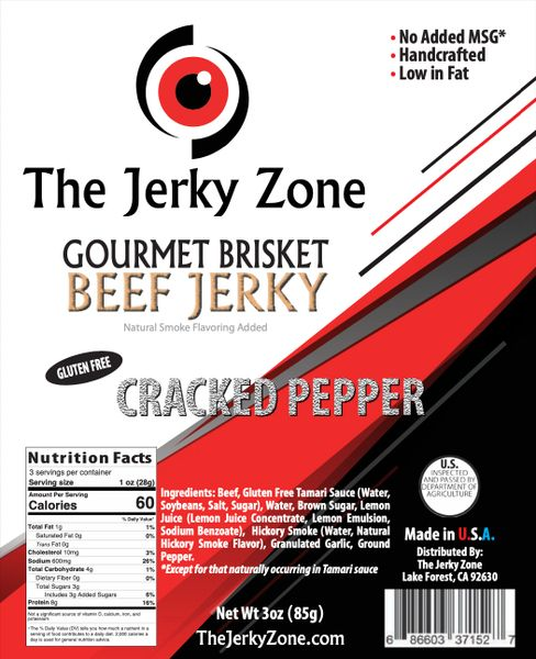 The Jerky Zone Cracked Pepper Beef Jerky