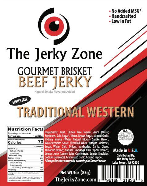 The Jerky Zone Traditional Western Beef Jerky