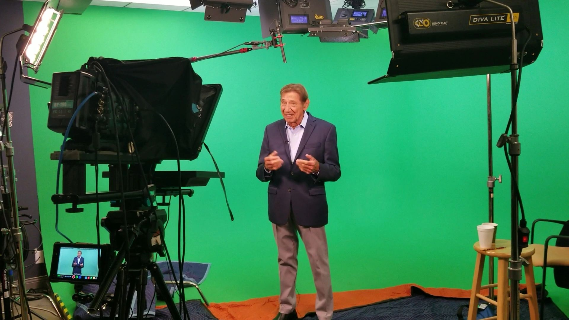 green screen studio tv commercial broadcast video production company Florida service videographer