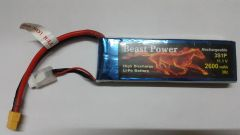 11.1V 2600 mAh 30C Lipo Battery Pack Beast Power