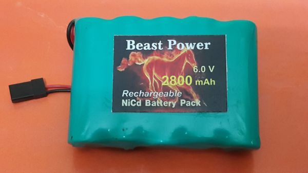 Receiver Pack 2800mAh 6.0v NICD