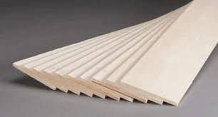 "Balsa Wood Sheet 3mm x 4"" x 20"""