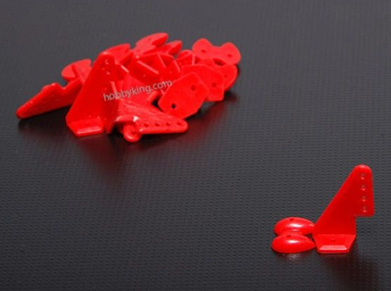 Pom Horns Red 20x27mm (10pcs/set)