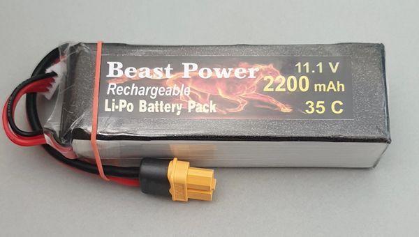 11.1V 2200 mAh 35C Lipo Battery Pack Beast Power