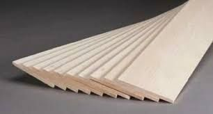 "Balsa Wood Sheet 2.5mm x 4"" x 20"""