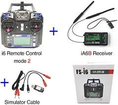 Simulator Combo with FLYSKY New Rc Plane Remote Controller FS-i6 Latest i bus 6 Channel receiver