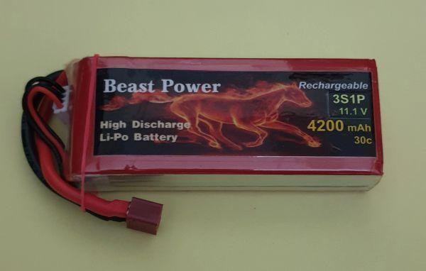 11.1V 4200 mAh 30C Lipo Battery Pack Beast Power