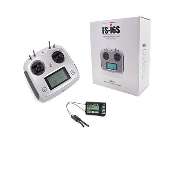 Flysky FSI6S 10ch 2.4G AFHDS 2A RC Transmitter Control w FSiA6B Receiver For RC Drone Quadcopter