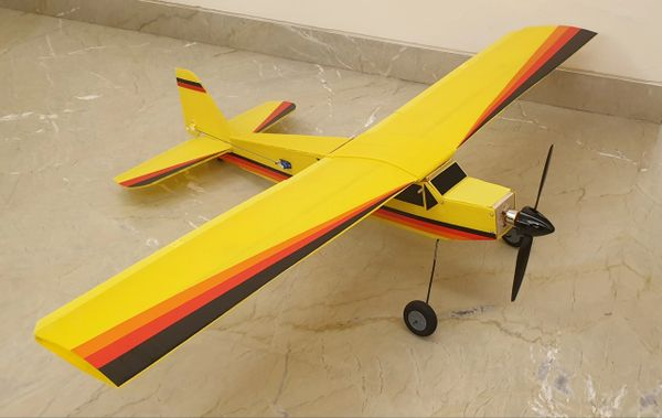 Cub Yellow Glider 4 Channel RTF Combo