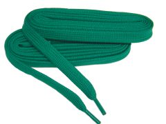 Heavy Duty Kelly Green SKATE Tube Style 10 mm wide HOCKEY Boot laces - 2 Pair Pack