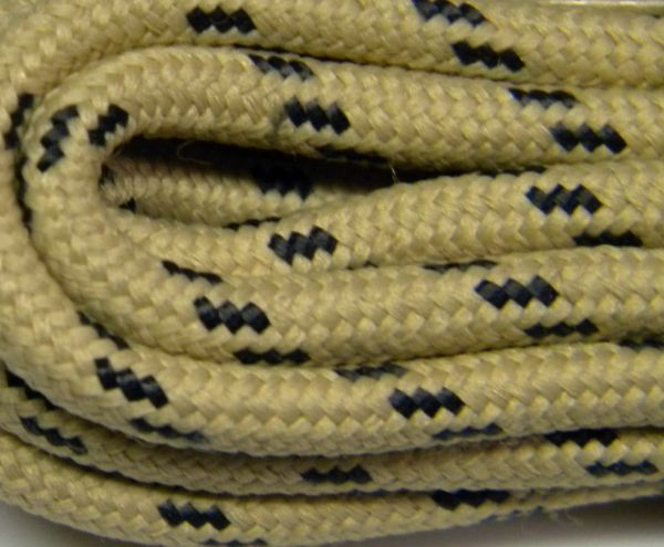 25' Feet Heavy duty TAN w/ BLACK Kevlar(R) Reinforced Tie down Cord Utility String