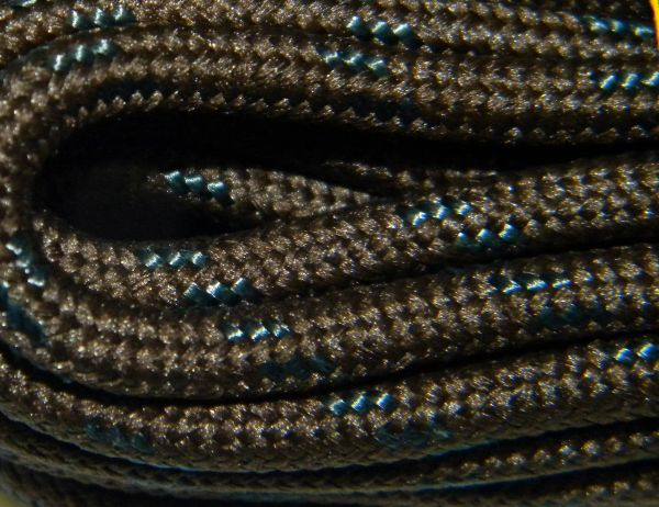 25' Feet Heavy duty BROWN w/ Black Kevlar(R) Reinforced Tie down Cord Utility String