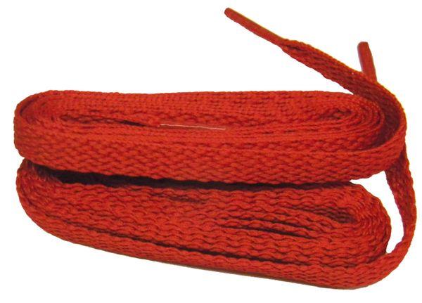 Brilliant RED TeamLaces(Tm) Bulk Pack 12 Pair - Flat 8mm Athletic Shoelaces