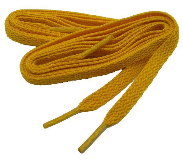 Brilliant GOLD TeamLaces(Tm) Bulk Pack 12 Pair - Flat 8mm Athletic Shoelaces