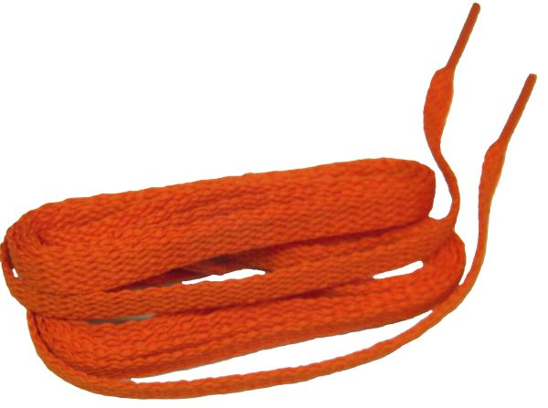 Brilliant Neon Orange TeamLaces(Tm) Bulk Pack 12 Pair - Flat 8mm Athletic Shoelaces