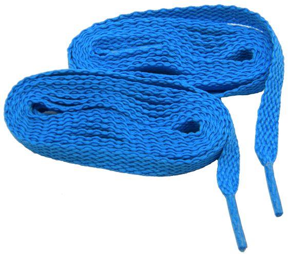 Brilliant Neon Blue TeamLaces(Tm) Bulk Pack 12 Pair - Flat 8mm Athletic Shoelaces