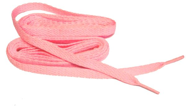 Brilliant Baby Girl Pink Light Pink TeamLaces(Tm) Bulk Pack 12 Pair - Flat 8mm Athletic Shoelaces