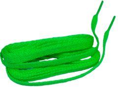 Hot Neon Green TeamLaces(Tm) Bulk 24 Pair Pack - 8mm Flat Athletic Shoelaces