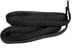 Brilliant Coal BLACK TeamLaces(Tm) Bulk Pack 24 Pair - Flat 8mm Athletic Shoelaces