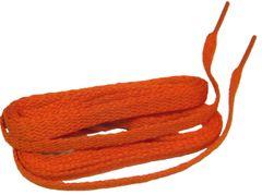 Hot Neon Orange TeamLaces(Tm) Bulk 24 Pair Pack - 8mm Flat Athletic Shoelaces