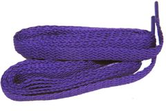Brilliant Purple TeamLaces(Tm) Bulk 24 Pair Pack - 8mm Flat Athletic Shoelaces