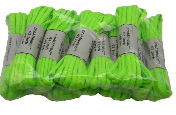 Neon Green OVAL ProAthletic(tm) TEAMLACES 12 Pair Pack Sneaker Shoelaces