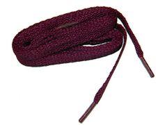 """ProAthletic(tm) FLAT """"Burgundy Wine Red"""" Sneaker Shoelaces (2 Pair Pack, 27-84 IN/69-213 CM, 8mm in Width)"""