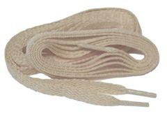 """ProAthletic(tm) FLAT """"Tan Sand"""" Sneaker Shoelaces (2 Pair Pack, 27-84 IN/69-213 CM, 8mm in Width)"""
