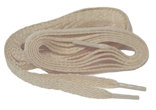 "ProAthletic(tm) FLAT ""Tan Sand"" Sneaker Shoelaces (2 Pair Pack, 27-84 IN/69-213 CM, 8mm in Width)"