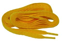 "ProAthletic(tm) FLAT ""Yellow Gold"" Sneaker Shoelaces (2 Pair Pack, 27-84 IN/69-213 CM, 8mm in Width)"