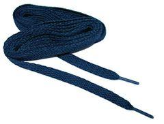 """ProAthletic(tm) FLAT """"Navy Blue"""" Sneaker Shoelaces (2 Pair Pack, 27-84 IN/69-213 CM, 8mm in Width)"""