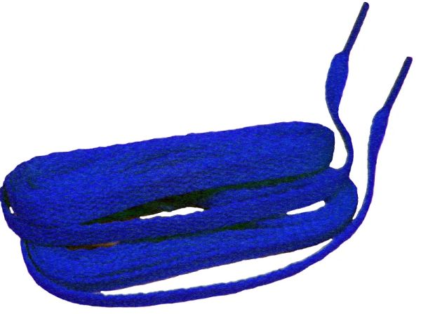 "ProAthletic(tm) FLAT ""Royal Blue"" Sneaker Shoelaces(2 Pair Pack, 27-84 IN/69-213 CM, 8mm in Width)"